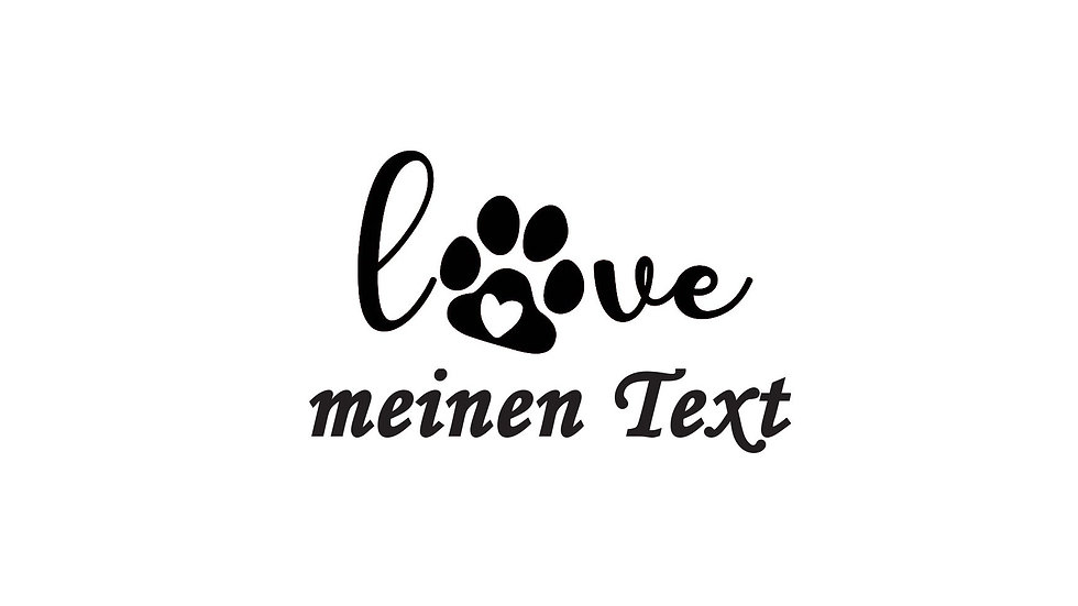 """Sticker """"Love"""" mit Wunschtext"""