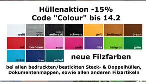 Neue Farben - tolle Aktion - 15% =)