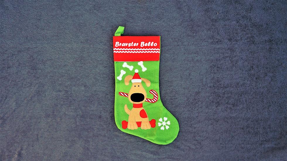 Weihnachtsstiefel Hund Personalisierbar Füllung