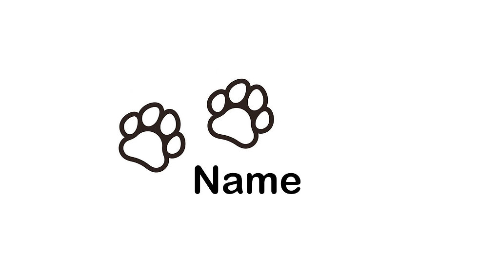 Sticker Aufkleber Hundepfoten Wunschtext