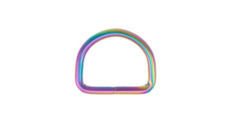 D-Ring Halbring Hund DIY regenbogen