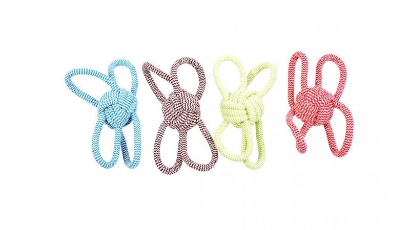 Schlaufenball Knotenball Hunde Spielzeug