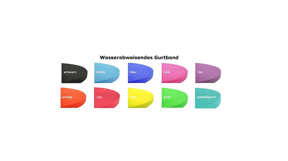 wasserabweisendes Gurtband - Meterware