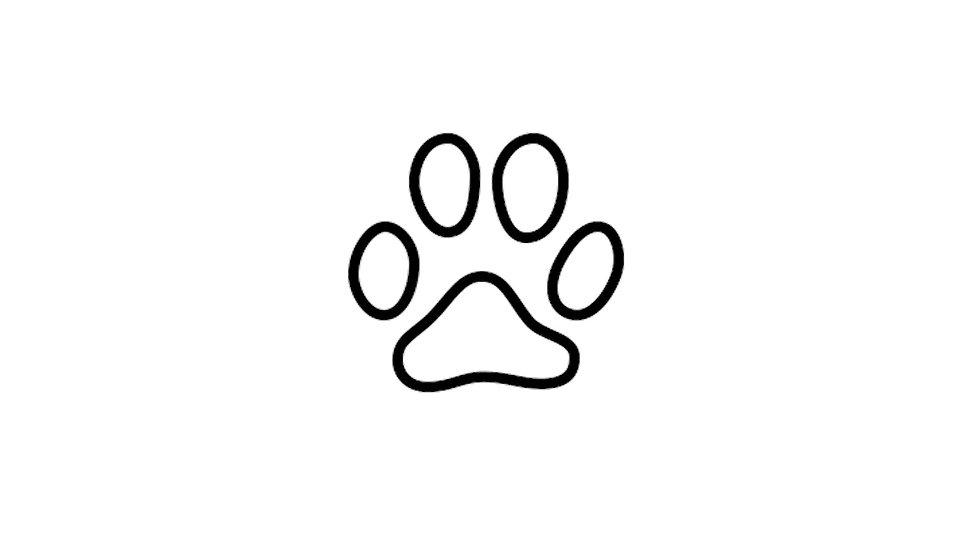 Sticker Hundepfote
