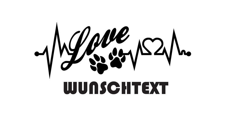 """Sticker """"EKG"""" mit Wunschtext"""