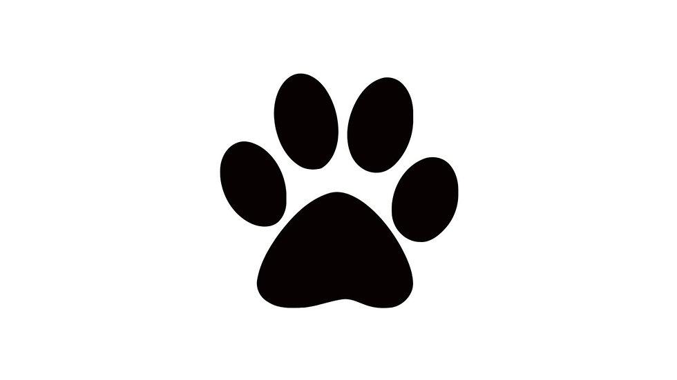 Sticker Aufkleber Hundepfote