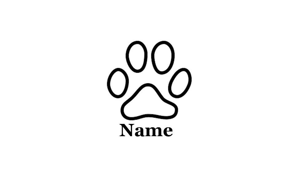 Sticker Hundepfote mit Wunschtext