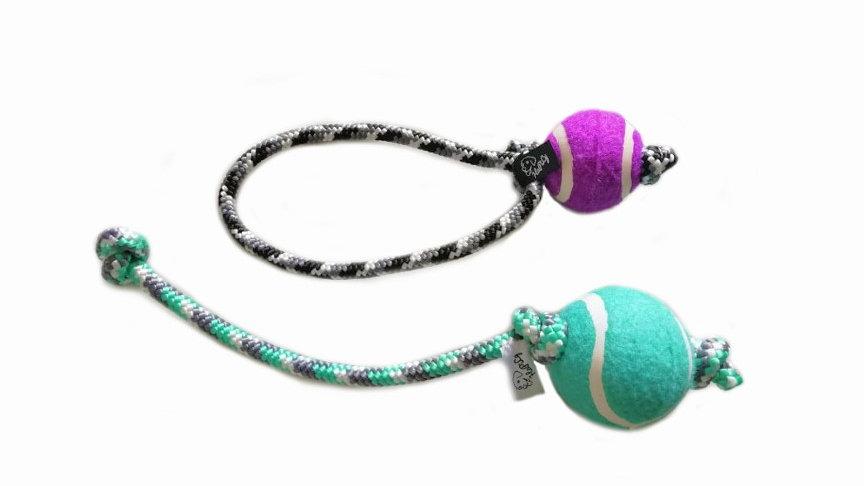 Tauball mit Seil Hundespielzeug Ball