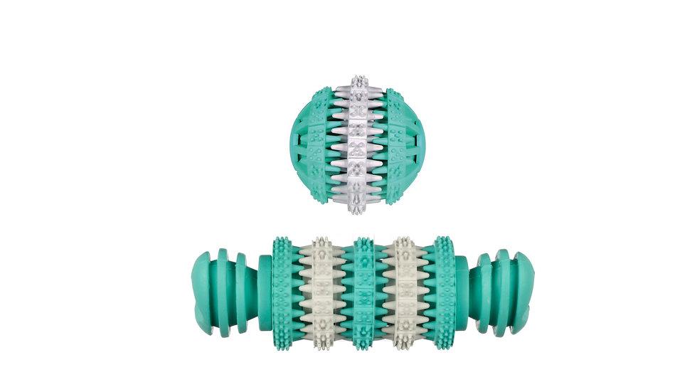 Dentalball Dentalknochen mint Minzgeruch Spielspaß Hund