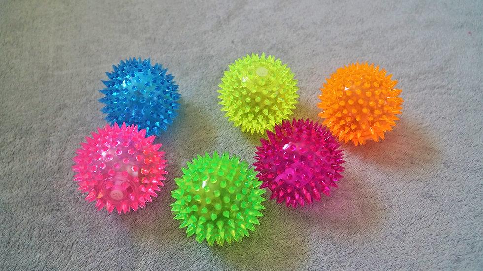 Leuchtender Quietsch-Igelball