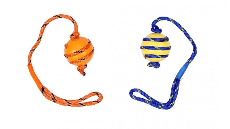 Gummiball mit Seil Hund Werfen Spiel