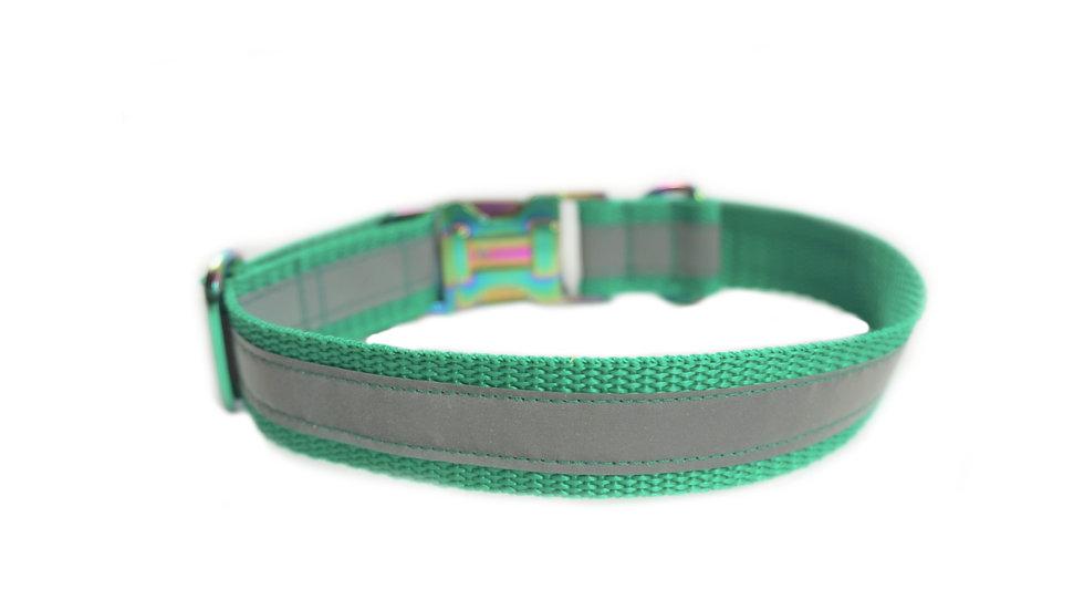 verstellbares Hundehalsband aus Gurtband reflektierend
