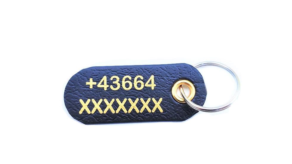 Kennzeichnung für Hunde Hundemarke Wunschtext Telefonnummer
