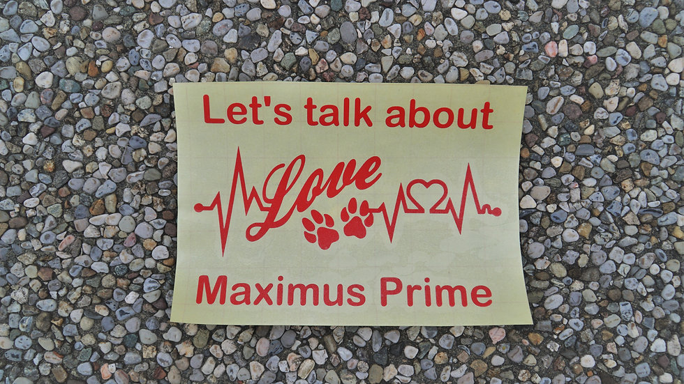 Autoaufkleber Sticker Hund EKG mit Pfoten Wunschtext Name