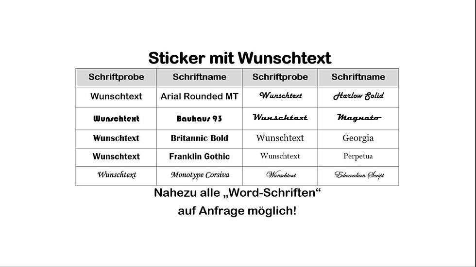 Sticker mit Wunschtext