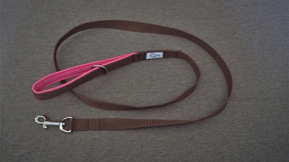 Leine (braun/rosa) 1,5m