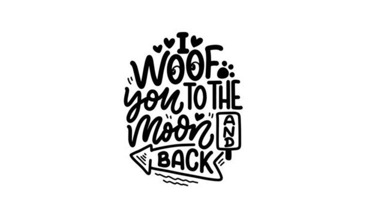 """Sticker """"Woof"""""""