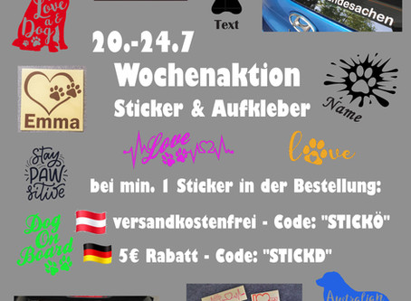 💰 Wochenaktion: Sticker & Aufkleber 💰