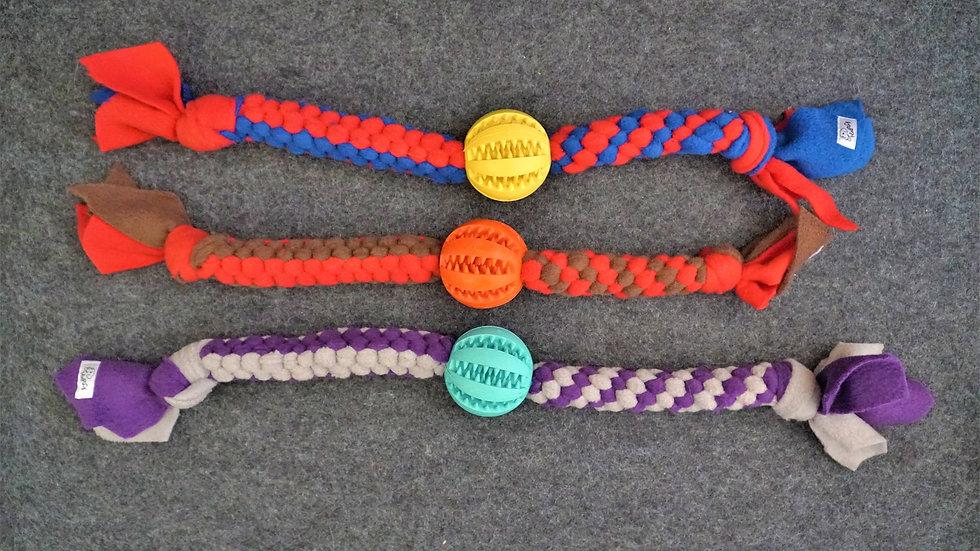 Zahnballzergel für Hunde Dentalball Hundespielzeug
