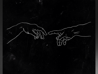 Holding Hands of God and Adam