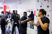 Adults learn self defense, kickboxing, martial arts, and weapons training at My Tactical Advantage LLC   Detroit