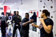 Adults learn self defense, kickboxing, martial arts, and weapons training at My Tactical Advantage LLC | Detroit