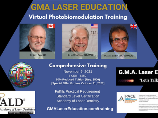 Dental CE Academy partners with GMA Laser Education to provide expert Laser Dentistry Education