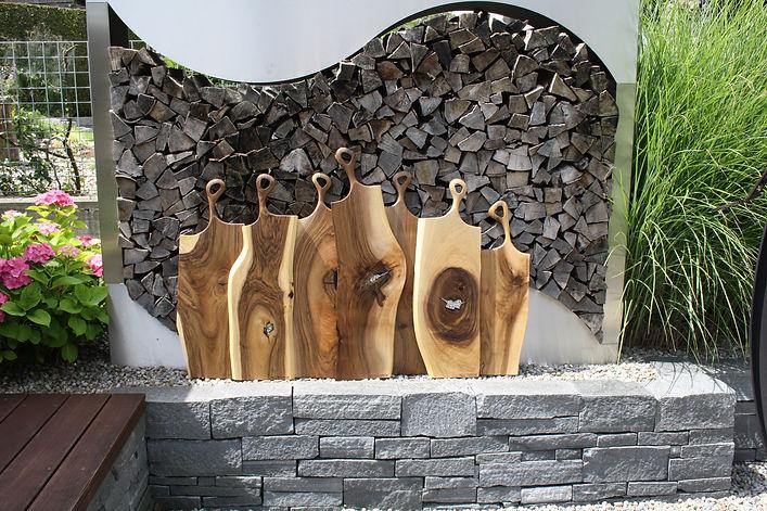 Schneidebrett aus Holz, Küchenbrett aus Holz, Servierbrett aus Holz