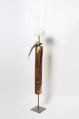 Design Holz-Blumenständer