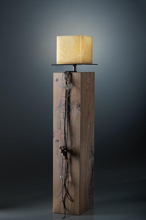 exklusive Holz Stele Eiche