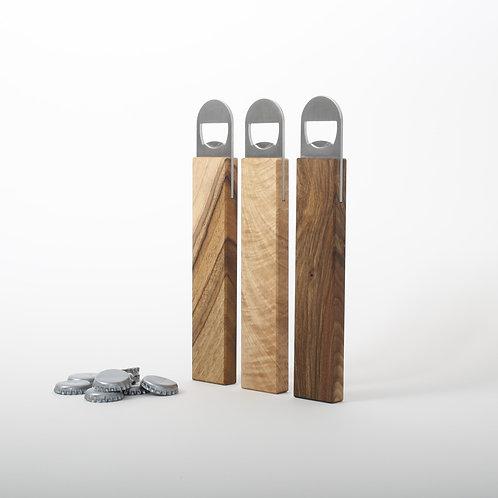 Flaschenöffner Holzgriff Gravur