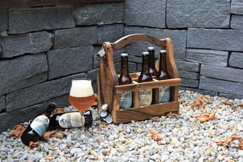 Bierträger, Flaschenträger aus Massivholz