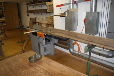 Holzvorbereitung: Nussbaum Esstisch massivholz.JPG