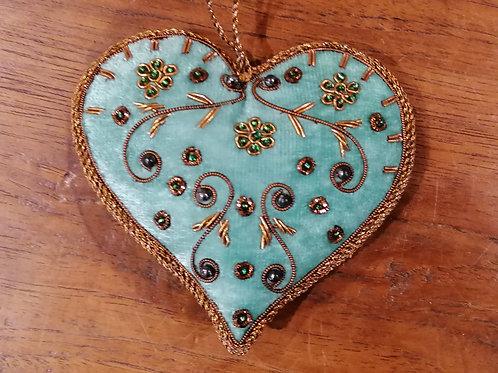 "Passementerie ""Coeur"" Turquoise 2"