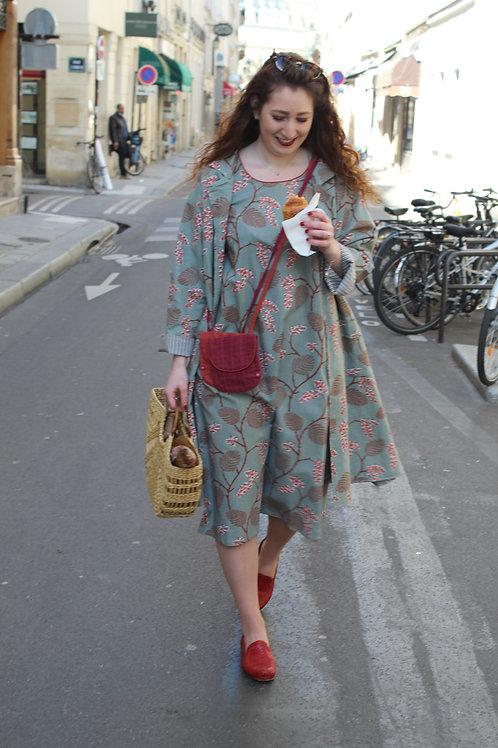 Robe Than en coton imprimé japonisant