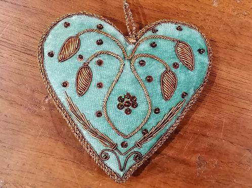 "Passementerie ""Coeur"" Turquoise 1"
