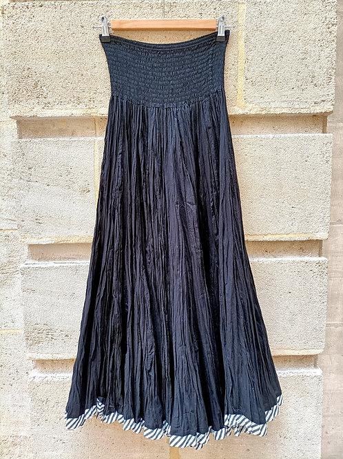 Jupe supergaghra en coton noir