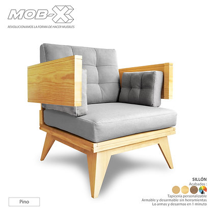 Sillón individual desarmable. BY MOB-X