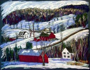 "Meeker Hollow Winter, 19x25"""