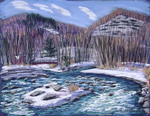 "Esopus Creek at Woodland Valley, 19x25"""