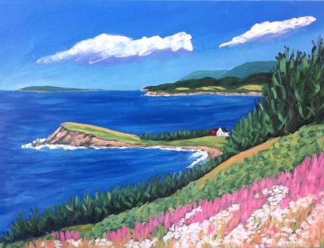 "Whale Cove, Cape Breton, 18x24"""