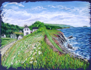 """Cap Le Moine, Cape Breton, 19x25"""""""