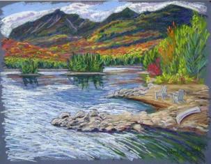 "Elk Lake, 19x25"""