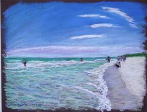 """Naples Beach, FL, 19x25"""""""