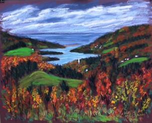 """Mabou River Valley, Cape Breton, 19x25"""""""
