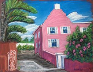 """Pink House, Bermuda, 19x25"""""""