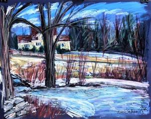 """Ashokan Winter, 19x25"""""""