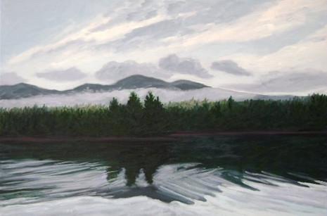 "Dark Reflections, Elk Lake, 20x30"""