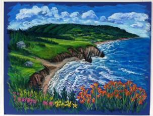 "Broad Cove, Cape Breton Island, 19x25"""