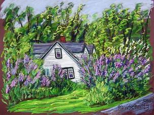 "Lilac Cottage, 19x25"""